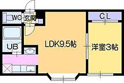 ファーム田村II[5階]の間取り