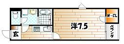 レオネクスト沖台[2階]の間取り