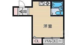 ガルボ茨木[2階]の間取り