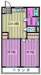 第二横田ハイツ[302号室]の間取り