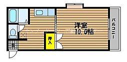 岡山県岡山市南区豊成3丁目の賃貸マンションの間取り