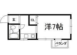 シェモワキタガワ[307号室]の間取り