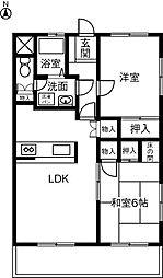 グレートマンション朝宮[301号室]の間取り