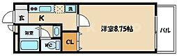 大阪府守口市寺方元町3丁目の賃貸アパートの間取り