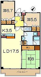 グレイスハイツ5[4階]の間取り