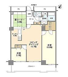 東京メトロ半蔵門線 水天宮前駅 徒歩6分の賃貸マンション 7階3LDKの間取り