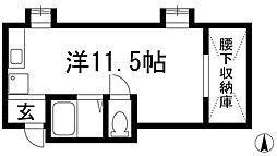 南花屋敷マンション(増建)[5階]の間取り