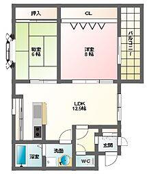 コーポイトー別館[2階]の間取り