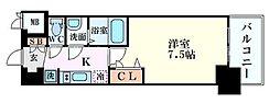 プレサンス堺筋本町センティス 2階1Kの間取り