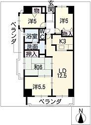 グランドメゾン四日市中央701[7階]の間取り