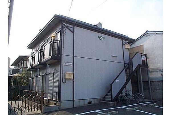 京都府京都市伏見区津知橋町の賃貸アパートの外観