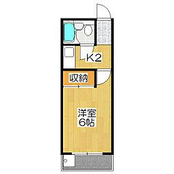 YTハウス[3-H号室]の間取り