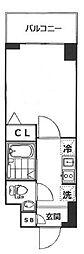 東京都品川区南品川5丁目の賃貸マンションの間取り