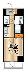 東武伊勢崎線 東向島駅 徒歩2分の賃貸マンション 5階1Kの間取り