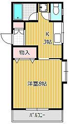 千葉県船橋市海神1丁目の賃貸アパートの間取り