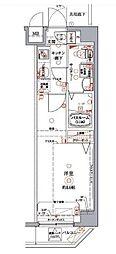 東京臨海高速鉄道りんかい線 東雲駅 徒歩5分の賃貸マンション 2階1Kの間取り
