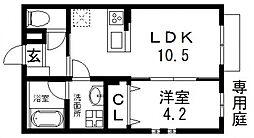 エマイユ鴻池[107号室号室]の間取り