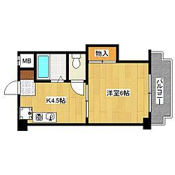 ハイツキタヨシ[1階]の間取り