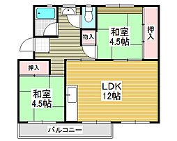 狭山住宅 12号棟[5階]の間取り