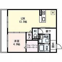 仮称)城東区長井ハイツ 3階1LDKの間取り