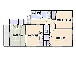広島県廿日市市桜尾3の賃貸アパートの間取り