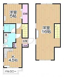 [タウンハウス] 東京都足立区弘道1丁目 の賃貸【/】の間取り