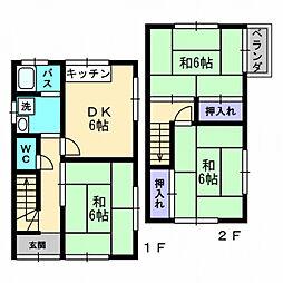 [一戸建] 愛媛県松山市和泉南1丁目 の賃貸【/】の間取り