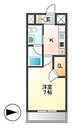 レジディア鶴舞[3階]の間取り
