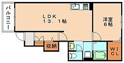 ジェルメグランII[1階]の間取り