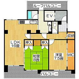 おおきに出町柳サニーアパートメント(旧 S-CREA出町柳)[501号室]の間取り