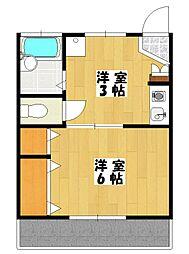 ヤマトモハウス[203号室]の間取り