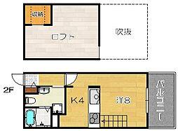 Full House Wakazono[202b号室]の間取り