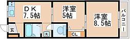 星が丘アパートメント 3階2DKの間取り