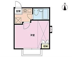 ジュネパレス新松戸第154[2階]の間取り