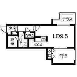 ラ・コーザN10[303号室]の間取り