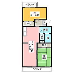 瀬戸口館[1階]の間取り