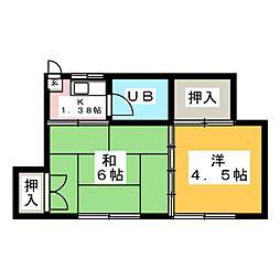 第2千葉アパート[2階]の間取り