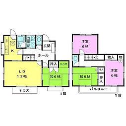 [一戸建] 神奈川県海老名市国分北3丁目 の賃貸【神奈川県 / 海老名市】の間取り