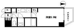 EARTHMANS OSAKA-JO(アースマンズ大阪城) 9階1Kの間取り