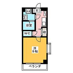 ラシュレ日光[4階]の間取り