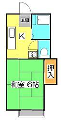 メゾンパークス[2階]の間取り