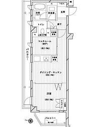 デュオスカーラ赤堤[3階]の間取り