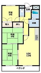愛知県豊田市土橋町4丁目の賃貸マンションの間取り