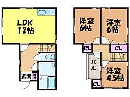 [一戸建] 愛媛県松山市小栗3丁目 の賃貸【/】の間取り