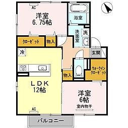 プレリュード京賀[2階]の間取り