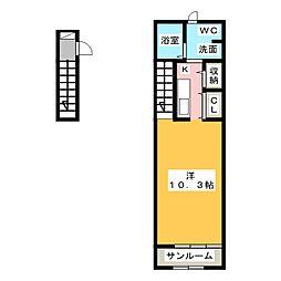 クライムII[2階]の間取り