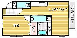 グリーンプラザハイム北棟[3階]の間取り
