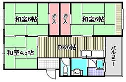 加茂コーポラス[306号室]の間取り