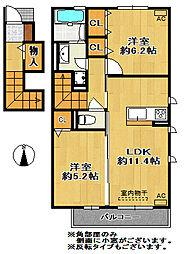 仮)有野町D−room[2階]の間取り