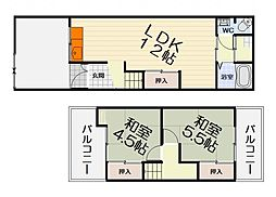 [テラスハウス] 大阪府和泉市池上町3丁目 の賃貸【大阪府 / 和泉市】の間取り